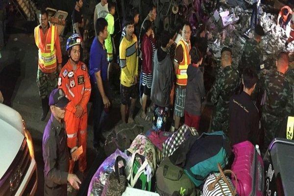 سانحه رانندگی در تایلند 18 کشته و 33 زخمی بر جای گذاشت