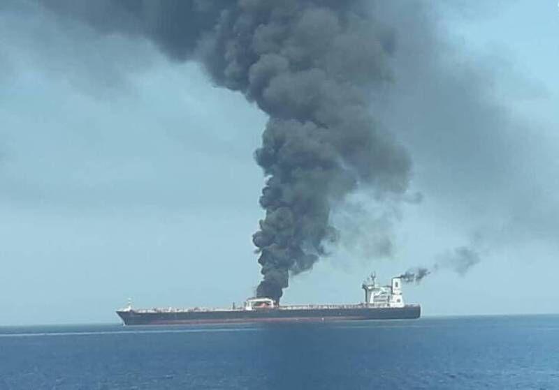 خبرنگاران چگونگی و ابعاد حادثه نفتکش ها در دریای عمان درحال آنالیز است