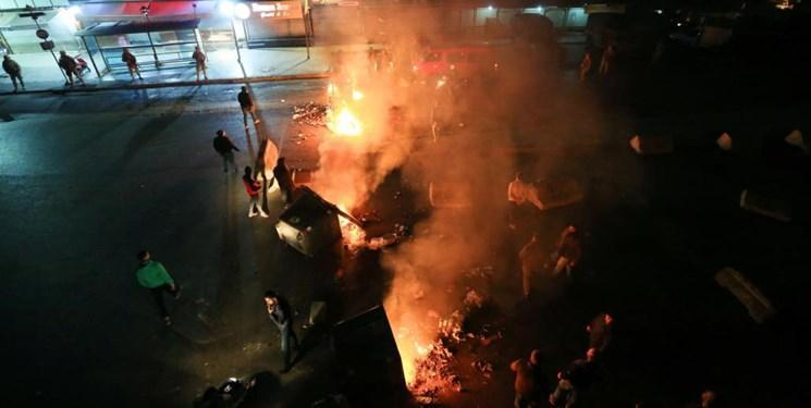 فیلم ، هواداران سعد الحریری به خیابان ریختند