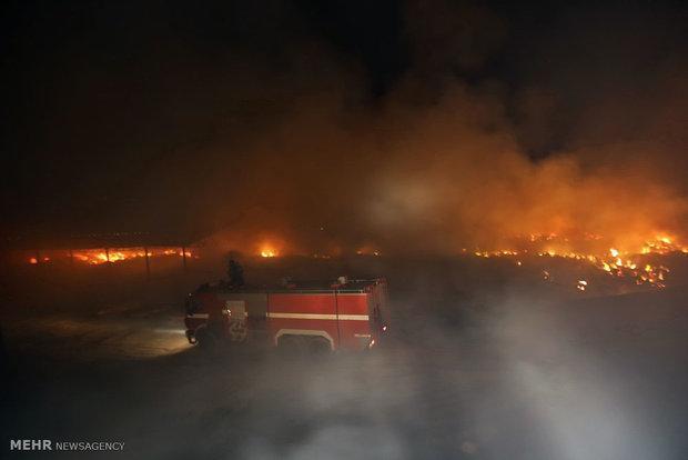 ساختمان اداره کل میراث فرهنگی منطقه آزاد قشم در اتش سوخت