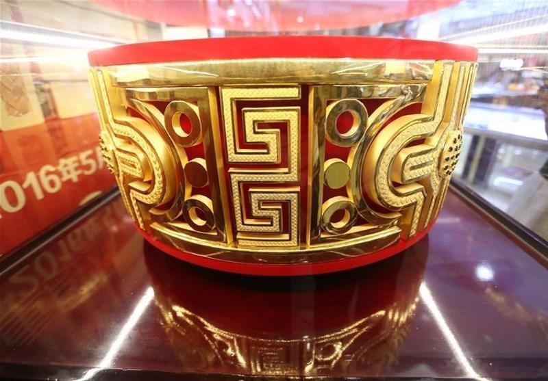 رونمایی از یک حلقه طلا به وزن 82.2 کیلوگرم در چین