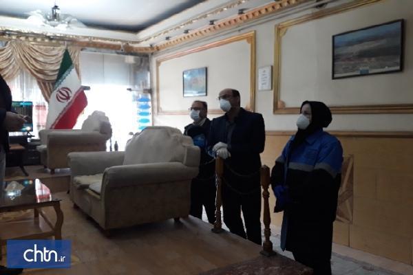اخطار کتبی به یک واحد اقامتی متخلف در ارومیه