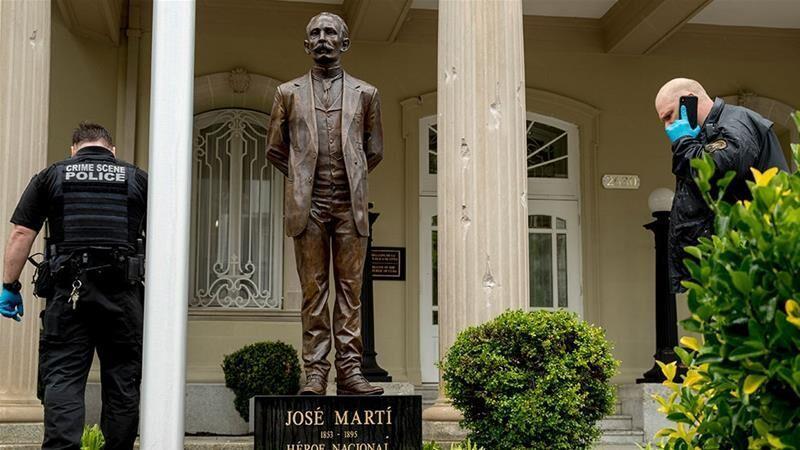 سفارت کوبا در واشنگتن به گلوله بسته شد تیراندازی در مهمانی عظیم کالیفرنیا