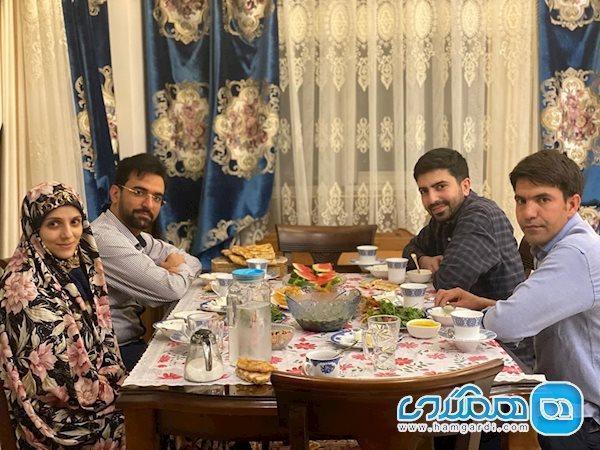 افطاری متفاوت وزیر جوان و همسرش با دو مهمان